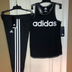 Adidas Girls Logo Active Leggings and top.New!